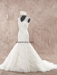 V-neck Mermaid Real Photo Wedding Dress Bridal Dresses Vestidos de Novia BDS0357