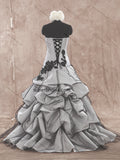 Strapless Colored Real Photo Ball Gown Wedding Dress Bridal Dresses Vestidos de Novia BDS0359