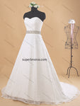 A-line Lace Real Photo Wedding Dress Bridal Dresses With Lace Up Back Vestidos de Novia BDS0360