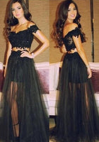 Two Piece Long Prom Dress   I166