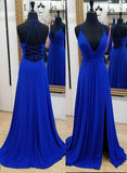 Simple Chiffon Long Prom Dress Formal Dresses Wedding Party Dress LP105