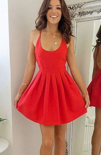 Short Simple Homecoming Dress Graduation Dresses Dance Dress Sweet 16 Dress SW135