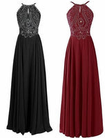Beaded Long Prom Dress  I124B