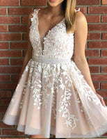 Short Homecoming Dress With Applique and Beading Graduation Dresses Dance Dress Sweet 16 Dress SW105