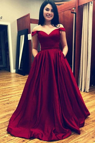 Off the Shoulder Long Prom Dress ,2019 Fashion Formal Dresses ,Modest Pageant Dress LP247