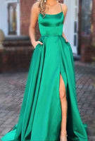 2019 Simple Long Prom Dresses Fashion Winter Formal Dress Popular Wedding Party Dress  LP355