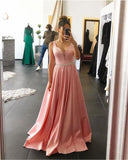 Fashipn A-line Long Prom Dress Semi Formal Dresses Wedding Party Dress LP158