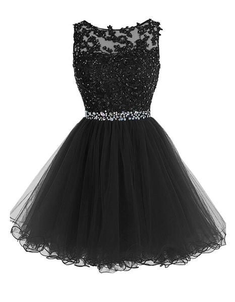 Black Short Beading Prom Dress Homecoming Dress I1089