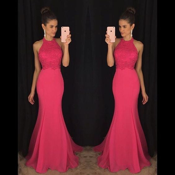 Floor Length  Chiffon Prom Dress  I1017