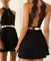 Black Short Homecoming Dress I1022