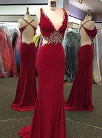 V-neck Floor Length Prom Dress I1075