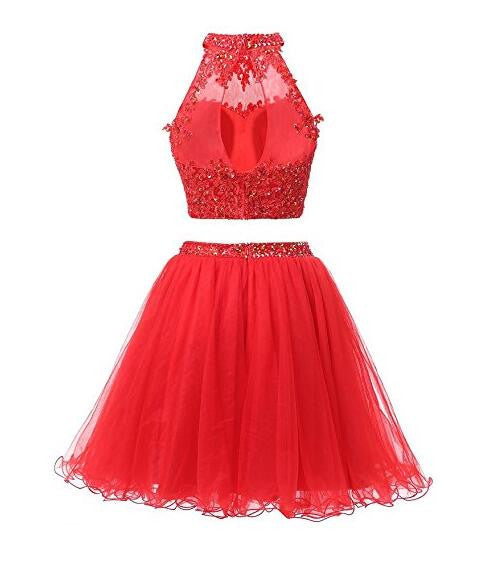 Two Piece Beading Homecoming Dress I1086