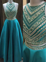 Two Piece Beads Long Prom Dress I1201