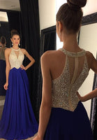 Sleeveless Beading Long Prom Dress I1206