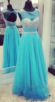 Beaded Floor Length Prom Dress  I191