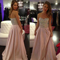 Beaded Floor Length Prom Dress  I193