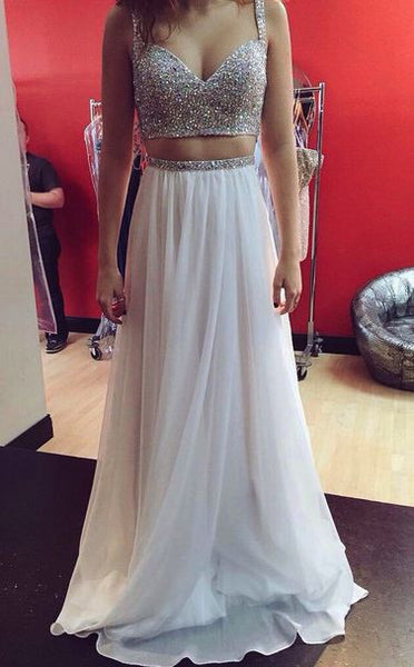 Beaded Floor Length Prom Dress  I194