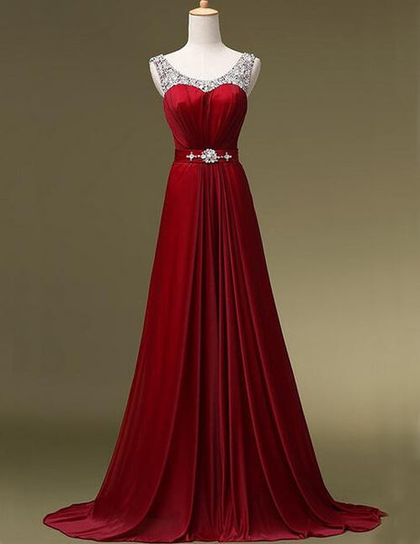 Floor Length Prom dress With Beadings L012