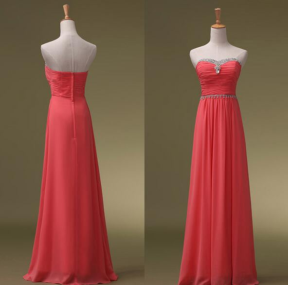 Floor Length Prom dress With Beadings