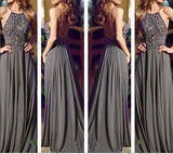 Floor Length Prom dress With Beadings on top L023