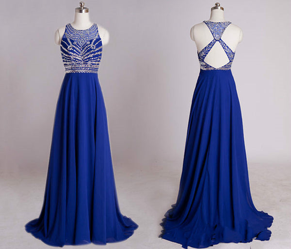 Floor Length Prom dress With Beadings on top L026