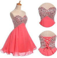 Short Prom dress ,Top Beaded homecoming dress