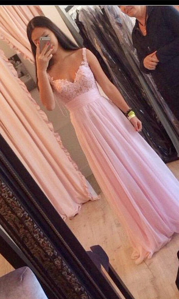 Floor Length  Prom Dress With Beadings I090