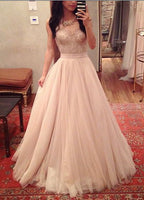 Floor Length Tulle Prom Dress I092
