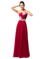 Strapless Prom Dress With Applique I148