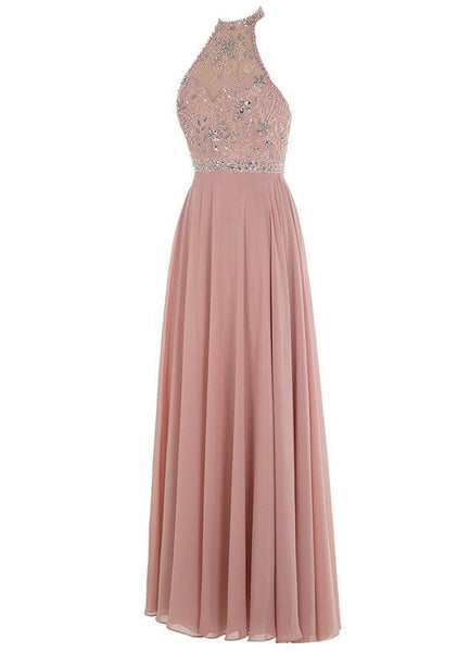 Beaded Long Prom Dress  I125