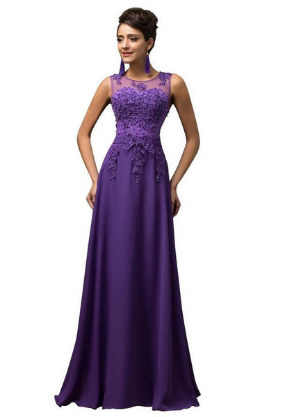 Beaded Long Prom Dress  I126