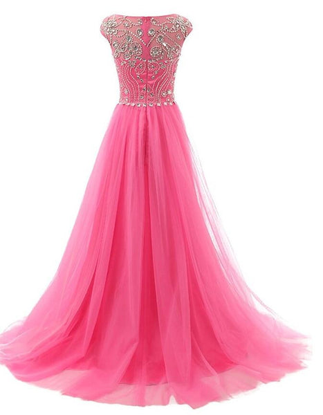 Beaded Long Prom Dress  I129