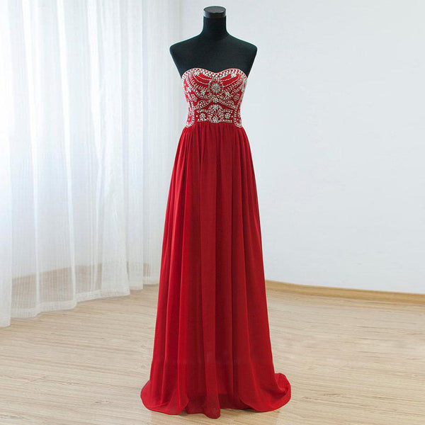 Strapless Beaded Prom Dress   I139