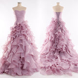 Strapless Prom Gown Dress   I140