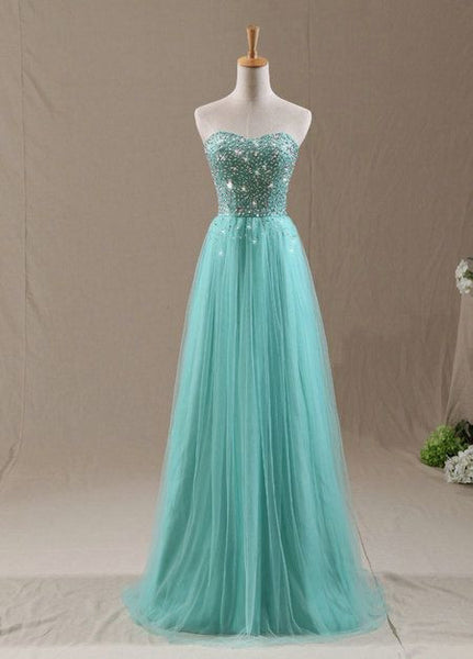 Strapless Beaded Prom Dress   I142