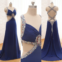 Floor Length Prom Dress With beadings I096