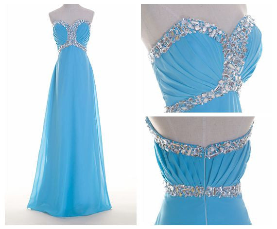 Floor Length Prom Dress With beadings I097