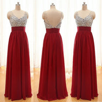 Beaded Floor Length Prom Dress I099