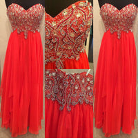 Beaded Floor Length Prom Dress I105