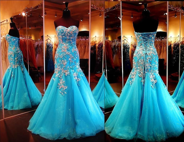 Strapless Mermaid Prom Evening Dress I111