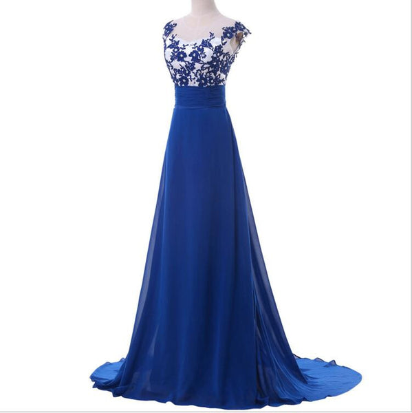 Long Prom Evening Dress With Applique I112