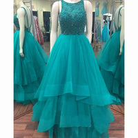 Beaded Long Prom Evening Dress  I120