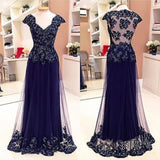 Long Prom Evening Dress With Applique  I119