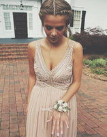 Fashion V-neck Beading Prom Dress , Long Formal Dress P008