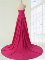 Sweetheart Chiffon Long Prom dress