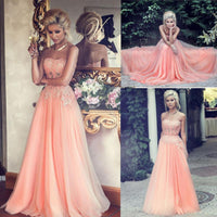 Strapless Beading Prom Dresses Long Formal Dress  SP1055