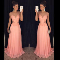 Cap Sleeves Prom Dresses Long Formal Dress  SP1056