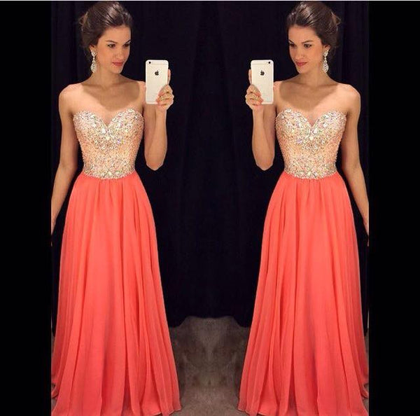 Beading Prom Dresses Long Formal Dress  SP1088