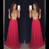 Lace Prom Dresses,Long Formal Dress SP1144