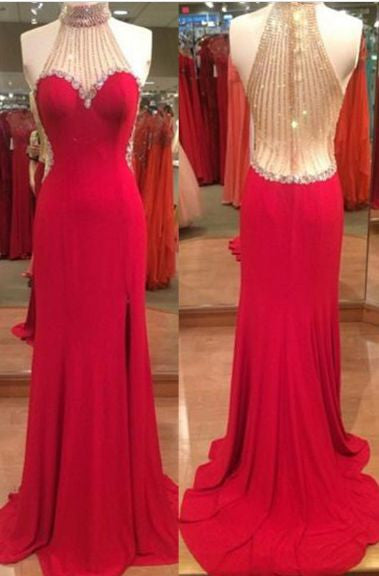 Mermaid Beading Prom Dresses,Long Formal Dress SP1155